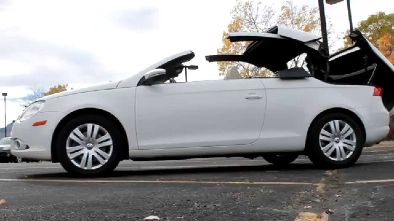 car spotlight  volkswagen eos hardtop convertible fisher auto  youtube