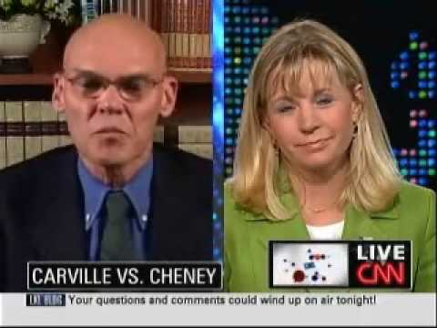 James Carville vs. Liz Cheney - Larry King Mutes 'Em Both!