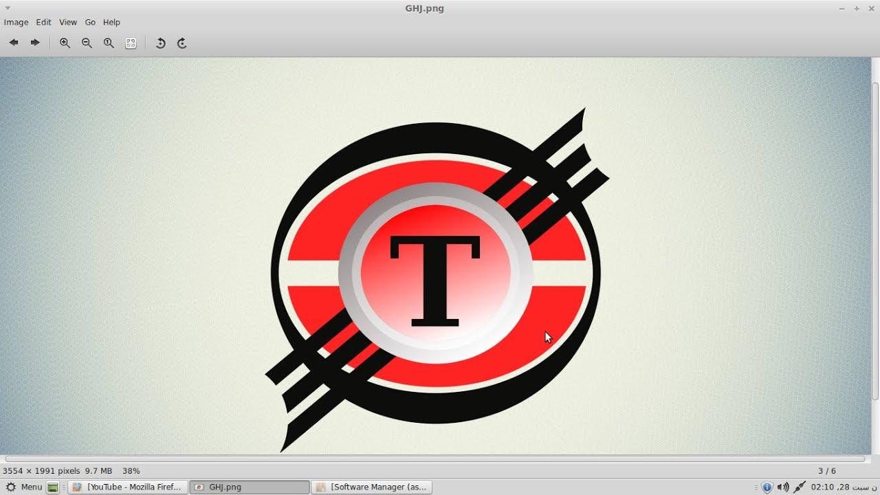 Design logo in gimp