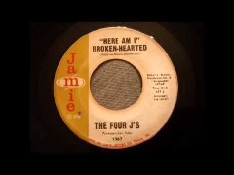 Four J's - Here Am I Broken Hearted - Philly Doo Wop Classic!