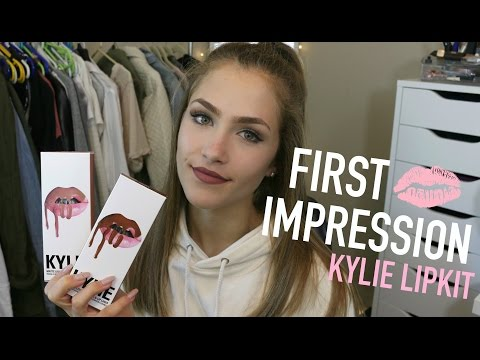 KYLIE JENNER LIPKIT SWATCHES + FIRST IMPRESSION/REVIEW!!