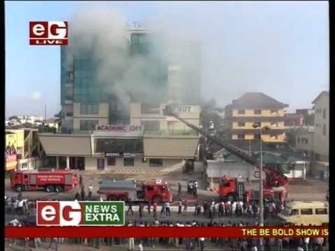 etvgh News | Fire engulfs Abena Ateaa Building in Accra