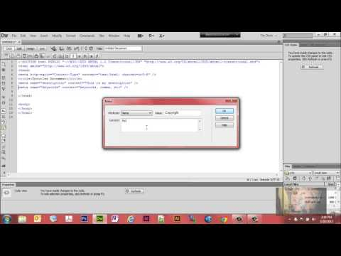 Use DreamWeaver CS6 to Insert Meta Tags