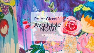 Paint Class #1: Basics in Acrylic Paints