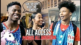 JAM FAM vs UNICORN FAM! Mikey Williams & Zion Harmon FACE OFF! Pangos All American All Access