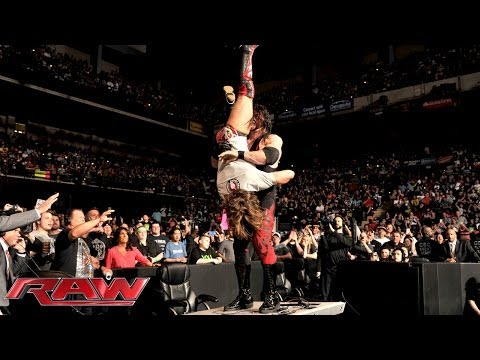 Kane Attacks Daniel Bryan: Raw, April 21, 2014 video