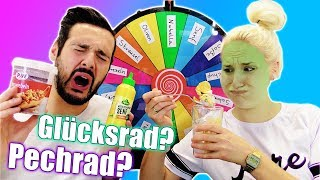 GLÜCKSRAD EIS CHALLENGE - SENF IM EISBECHER! Nina VS Kaan | Mystery Spin Wheel of Icecream