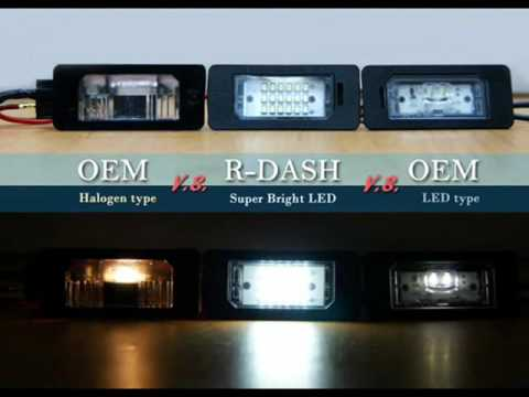 Rdash 24 Led License Plate Light Bmw E46 E90 E92 E60 E39 E82 M3 M5 X5 X6 Youtube