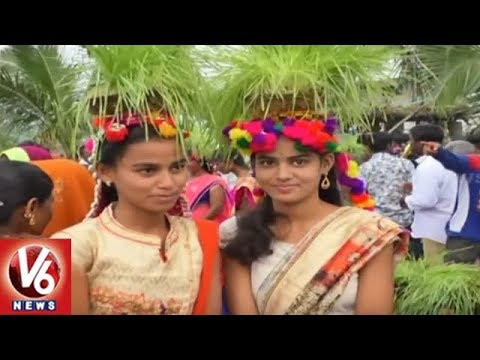 Teej Festival Celebrations Begins In Nizamabad District Villages | V6 News