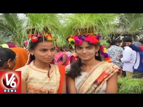 Teej Festival Celebrations Begins In Nizamabad District Villages | V6 News