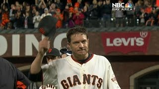 MIL@SF: Peavy carries no-hitter into the 8th