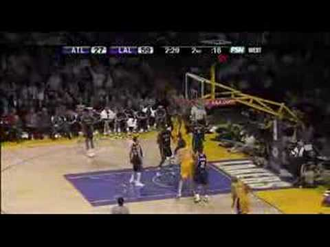 Kobe Bryant Pau Gasol Lakers Highlights vs Hawks 2008 HD