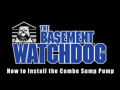 How to install a Basement Watchdog Combination Sump Pump System. Sump Pump installation tips