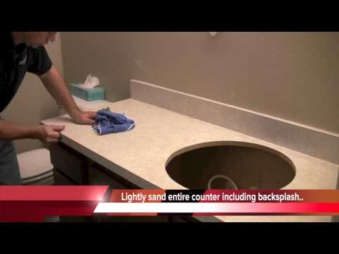Countertop Prep: How to paint countertops