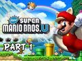 New Super Mario Bros. Wii U Walkthrough - Part 1 Acorn Plains Let's P
