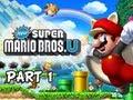 New Super Mario Bros. Wii U Walkthrough - Part 1 Acorn Plains Let's P
