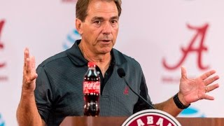 Nick Saban talks about preparing for Ole Miss, the quarterbacks, more