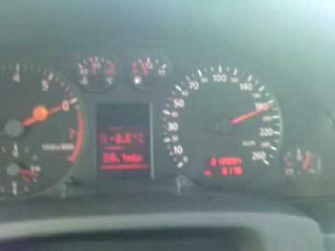 Audi A6 C5 2.4 V6  ( 165PS ) Acceleration test 0-200km/h