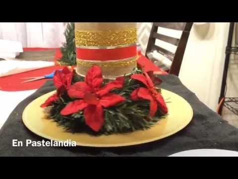 MANUALIDADES NAVIDENAS #4 CENTRO DE MESA, CHRISTMAS CENTERPIECE DIY