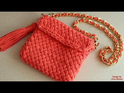 Сумки спицами - схемы и выкройки вязания