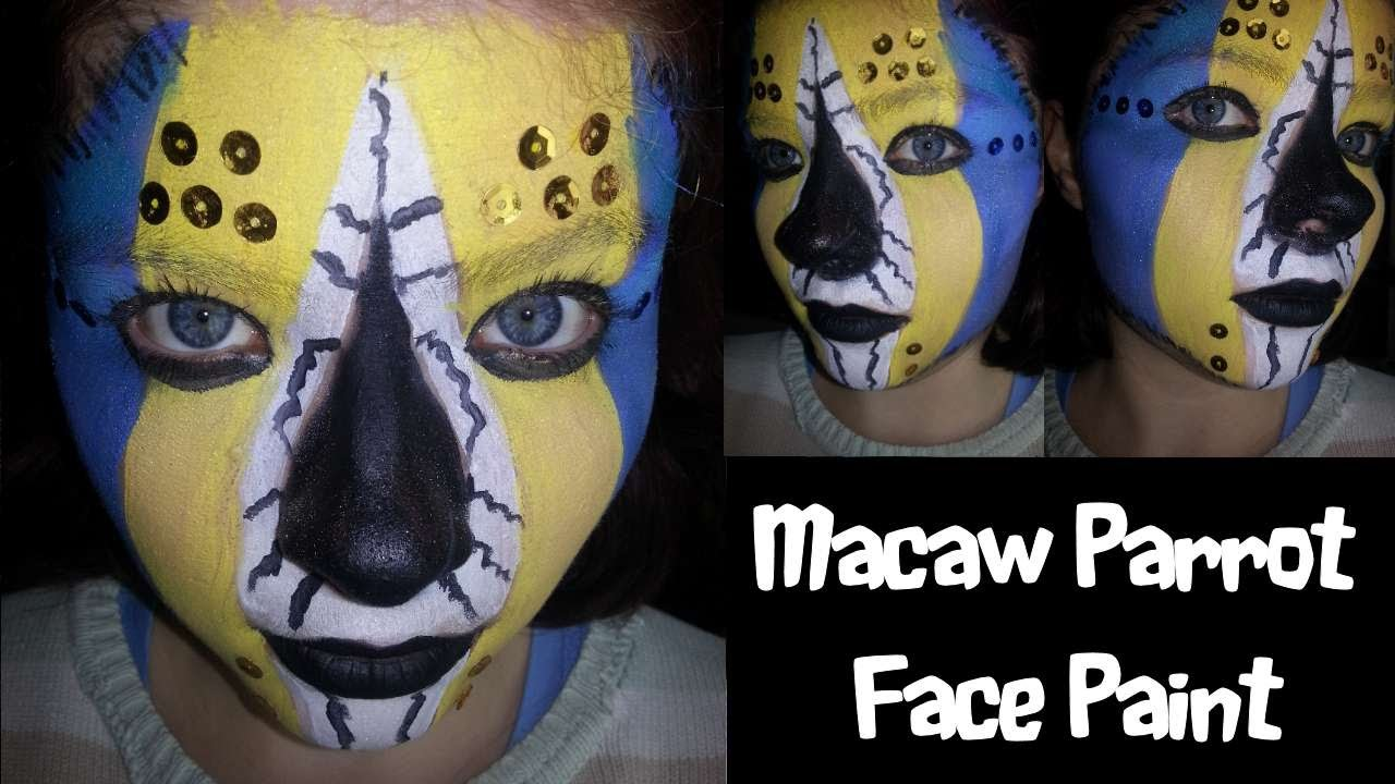 Macaw Parrot Face Paint