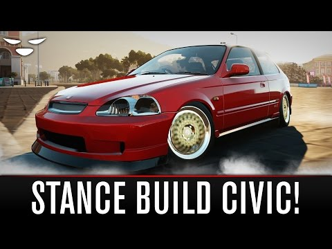Forza Horizon 2 | STANCED HONDA CIVIC BUILD (How To Make A Stance Car in Forza Horizon 2)