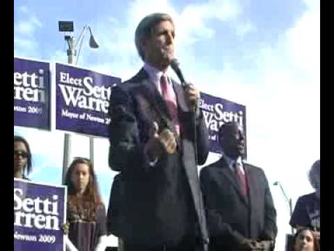 Senator John Kerry Endores Setti Warren for Newton Mayor