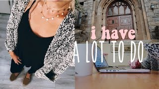 I HAVE A LOT TO DO | LAW SCHOOL VLOG 47