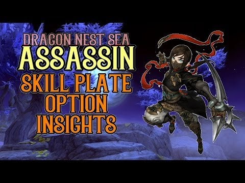 Assassin. Chaser. Raven & Ripper Skill Plate Options Insights ! - Dragon Nest SEA