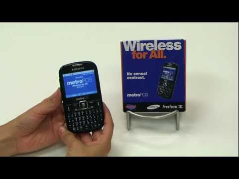 Metro PCS Samsung Freeform III 3 Phone - 6 Features in 60 Seconds!