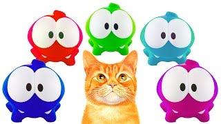 All about Om Nom and his Best Friends. Toys and Fun. Big Compilation