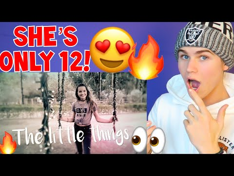 SHE'S SO GOOD!! ANNIE LEBLANC - LITTLE THINGS **REACTION** (OFFICIAL VIDEO) NO AUTO TUNE? 2018