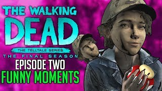 "FUNNY MOMENTS of The Walking Dead: The Final Season Episode 2 ""Suffer The Children"""