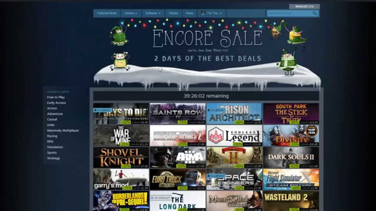 Heads Up! - Steam Encore Sale 1st Jan - 2nd Jan 2015 - Some.