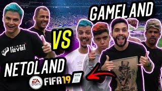 FELIPE NETO E BRUNO CORRÊA - DESAFIO DE FIFA NA GAMELAND