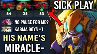 This Happens When You Unpause vs Miracle- Tinker God Karma Strikes Back! Epic Gameplay WTF Dota 2