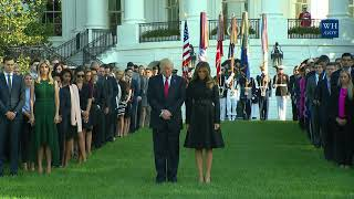 President Trump and The First Lady Lead a Moment of Silence in Remembrance of Those Lost on 9/11