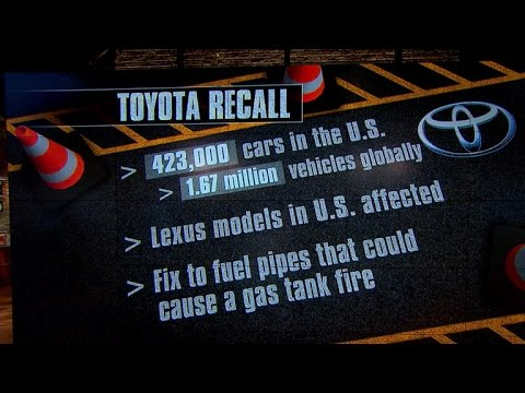 Toyota recalls over 400,000 cars in U.S.