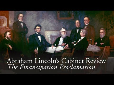 Abraham Lincoln's Cabinet Review on the Emancipation Proclamation. 150th Anniversary of The Emancipation Proclamation - January 1st, 2013 Photographed at the...