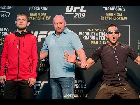 Khabib Nurmagomedov vs. Tony Ferguson UFC 209 Media Day Staredown