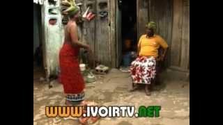 Comedie : Cote D'Ivoire : GBAZE Thérèse  et Ange font palabre.
