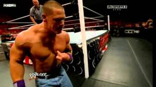 WWE Monday Night Raw John Cena vs Randy Orton