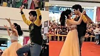 Jhanvi Kapoor And Ishaan Khattar Dance In Dhadak Promotion In Pune