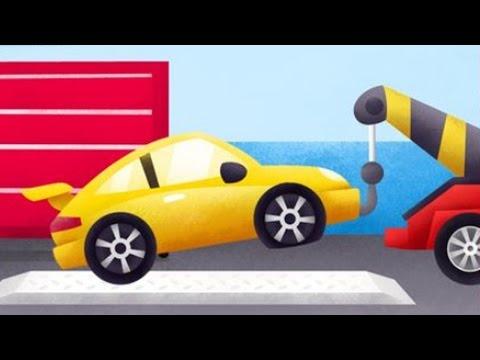 Kamyonlar Çizgi Film - Çekici - Oto kurtarma (Trucks)