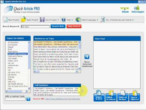 0 Quick Article Pro Article Writing Marketing Software Review   FREE IM Software