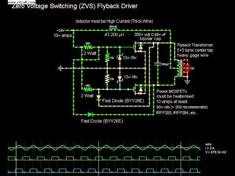 Zvs Zero Voltage Switching Flyback Driver Simulation