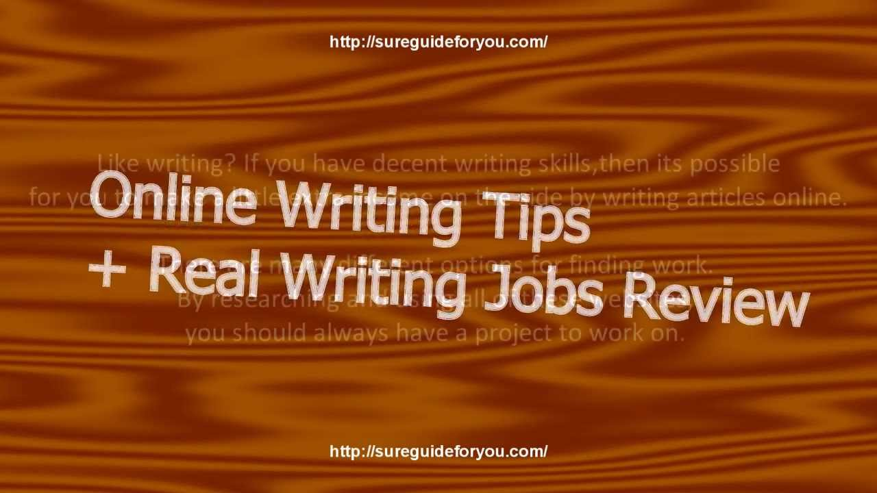 Make money online writing real jobs review youtube