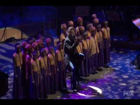 AI Josh Groban children choir frm Africa - You Raise Me Up