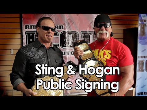 Hulk Hogan & Sting Public Signing at American Icon Autographs on July 27, 2014