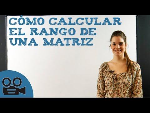 Cómo calcular el rango de una matriz